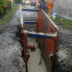 Zberače Jasenica - AC - montáž potrubia