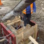 Zberače Stupné - AE - betonáž monolitickej šachty Š2