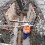 SO 10 Zberače Papradno - AY - pretláčanie potrubia Máj 2013